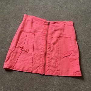 Linen miniskirt